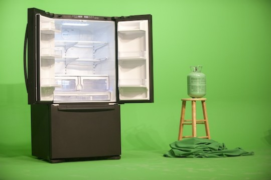 """GreenScreenRefrigeratorAction"" (2010) by Mark Leckey. Courtesy: Galerie Buchholz, Cologne/Berlin"