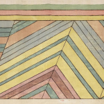 Orra White Hitchcock, drawing of strata near Valenciennes, 1828–40, pen and ink on linen, (1 of 61) | Courtesy of Amherst College Digital Collections